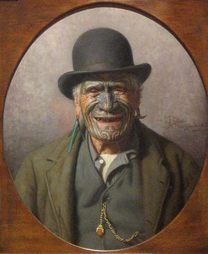 C. F. Goldie - Te Aho-o-te-Rangi Wharepu of Ngati Mahuta (1905)