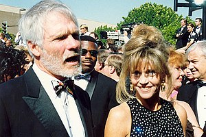 Ted Turner with ex-wife Jane Fonda, 1992 Deuts...