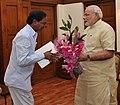 Telangana CM K. Chandrasekhar Rao meets PM Modi.jpg