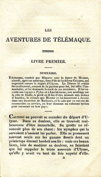 Les Aventures de Télémaque - The first page of the first book of Les Aventures de Télémaque