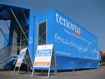English: Tenovus Mobile Cancer Support Unit