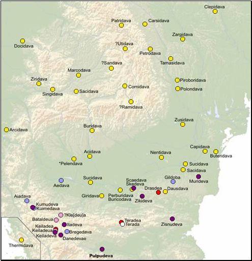 Ономастический ряд некоторых городов с окончанием давы
