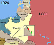 Territorial changes of Poland 1924