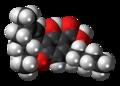 Tetrahydrocannabinolic acid molecule spacefill.png