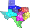 Texas Highway Patrol divisions map.png