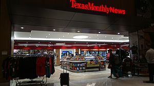 Texas Monthly - Texas Monthly News shop at George Bush Intercontinental Airport in Houston