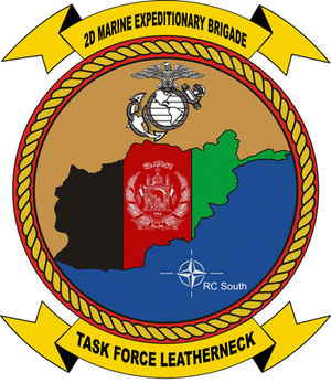2nd Marine Expeditionary Brigade (United States) - TF Leatherneck logo