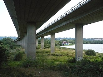 A21 road (England) - Viaducts crossing the Medway Valley near Haysden