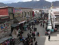 The Barkhor, a place for both walking meditation and shopping