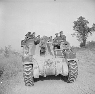 6th Armoured Division (United Kingdom) - Priest 105mm self-propelled gun of 12th Royal Horse Artillery (Honourable Artillery Company), 6th Armoured Division, 17 May 1944.