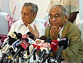 The Chief Election Commissioner, Shri B. B. Tandon addressing a press conference at Guwahati on March 7, 2006. The Election Commissioner, Shri N. Gopalaswamy is also seen.jpg
