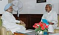 The Chief Minister of Bihar, Shri Nitish Kumar calling on the Prime Minister, Dr. Manmohan Singh, on August 12, 2007.jpg
