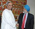 The Chief Minister of Orissa, Shri Navin Patnaik meeting with the Deputy Chairman, Planning Commission, Shri Montek Singh Ahluwalia to finalize Annual Plan 2007-08 of the State, in Delhi on February 23, 2007.jpg