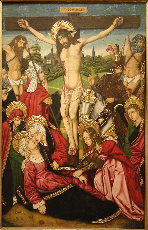 The Crucifixion by Martin Bernat, c. 1480-1490, oil on panel - San Diego Museum of Art - DSC06599