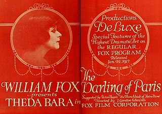 <i>The Darling of Paris</i> 1917 film by J. Gordon Edwards starring Theda Bara and Glen White