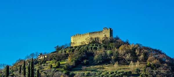 The Asolo's fortress over Mount Ricco.