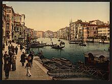 Il Canal Grande tra il 1890 e il 1900