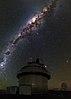 Kupola 1540 mm reflektorja Veliki Danec na Observatoriju La Silla