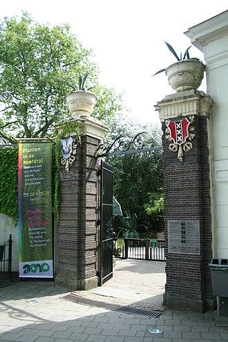 Hortus Botanicus (Amsterdam) - Hortus Botanicus entrance