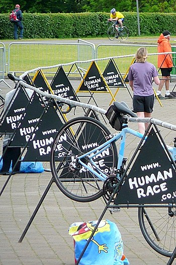 The Human Race triathlon - transition - geogra...