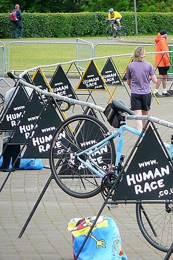 The Human Race triathlon - transition - geogra...