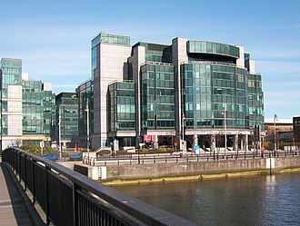 Offshore financial centre - International Finance Centre, Dublin, Ireland.  Ireland is a top 5 Conduit OFC, the largest global tax haven,