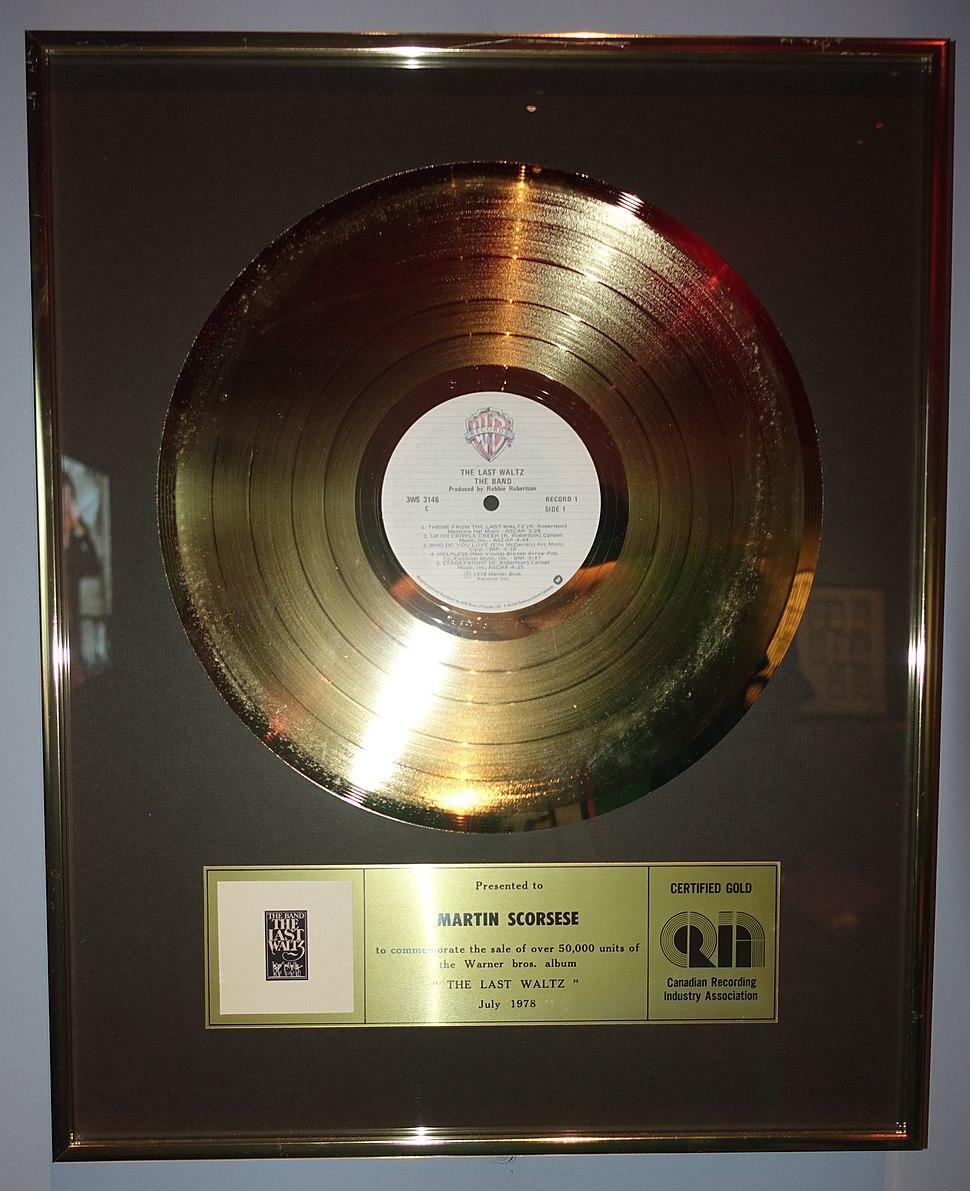 The Last Waltz CRIA gold certification