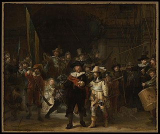 <i>The Night Watch</i> 1642 painting by Rembrandt