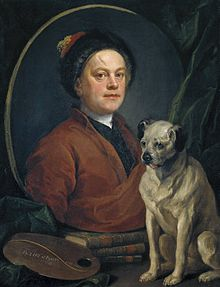 The Painter and His Pug di William Hogarth.jpg