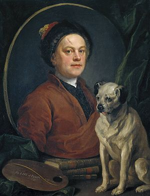 William Hogarth - William Hogarth, Painter and his Pug, 1745