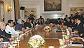 The Prime Minister, Dr. Manmohan Singh and the President of the People's Republic of China, Mr. Hu Jintao, at the delegation level talks, in New Delhi on November 21, 2006.jpg