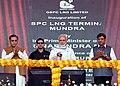 The Prime Minister, Shri Narendra Modi inaugurating the Mundra LNG Terminal & Anjar – Mundra Gas Transmission Project, in Anjar, Gujarat.JPG