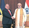 The Prime Minister, Shri Narendra Modi meeting the President of Nauru, Mr. Baron Waqa, in Jaipur on August 21, 2015.jpg