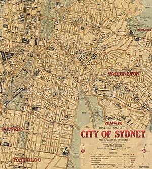 Razor gang - Razor Gang areas of Sydney, 1927