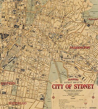 Razor gang - Razor Gang areas of Sydney, 1927