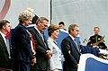 The Rumsfelds and Bushes take part in the Sept. 11 Observance Ceremony at the Pentagon on Sept. 11, 2002.jpg