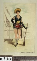 The Sailor on the Stage, 1887 (caricature) RMG PU0167.tiff