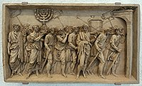 The Triumphal Procession Carrying the Spoils from the Temple of Jerusalem, attributed to Jean-Guillaume Moitte, c. 1797, terracotta - Fogg Art Museum, Harvard University - DSC01402.jpg