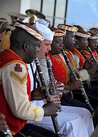 Jamaica Defence Force - Image: The U.S. Fleet Forces Band, and members of the Jamaican Defense Force Band perform