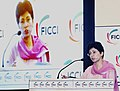 The Union Minister for Housing and Urban Poverty Alleviation and Culture, Kum. Selja delivering the inaugural address at the 8th International Real Estate Summit 2011, in Mumbai on September 22, 2011.jpg