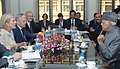 The Union Minister for New and Renewable Energy, Dr. Farooq Abdullah and Princess Astrid of Belgium, in a bilateral meeting, in New Delhi on November 25, 2013.jpg
