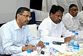 The Union Minister for Textiles, Dr. Kavuru Sambasiva Rao holding an interaction meeting with the heads of various textile industry associations, in Bangalore on July 04, 2013.jpg