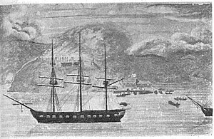 Early naval vessels of New Zealand - HMS North Star, 6th rate frigate