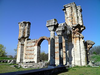 Plague of Justinian - Partially-completed basilica in Philippi; its construction is believed to have been halted by the Plague of Justinian.