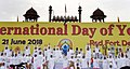 The participants in the mass performance of Common Yoga Protocol, on the occasion of the 4th International Day of Yoga -2018, at Red Fort, in Delhi on June 21, 2018.JPG