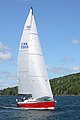 The sailboat Koobalibra, a C&C 115, competing in the Great Bras d'Or Cup, Leg 3 of Race the Cape 2013 01.jpg