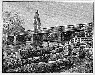 Walton Bridge - Image: Third Walton Bridge 1897