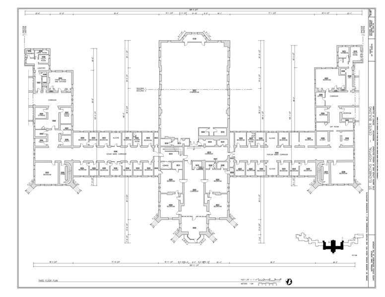 File third floor plan st elizabeths hospital center for 539 plan