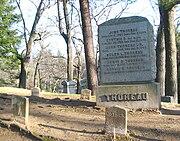 Thoreau family graves at Sleepy Hollow Cemetery