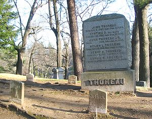 Sleepy Hollow Cemetery (Concord, Massachusetts) - Thoreau family plot in Sleepy Hollow Cemetery